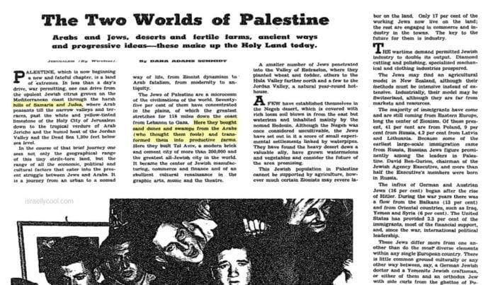 Faksmile fra New York Times 16. mai 1948.