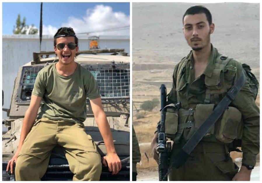 Yosef Cohen (L) and Sergeant Yuval Mor Yosef