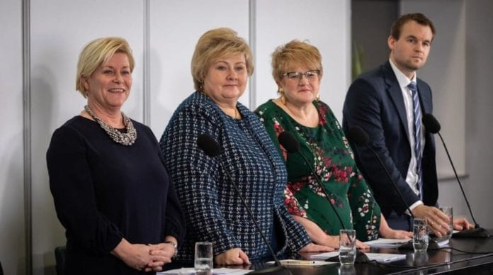 Norway's new government is the first right wing majority government since 1985. (Foto: Hans Kristian Thorbjørnsen, Høyre)