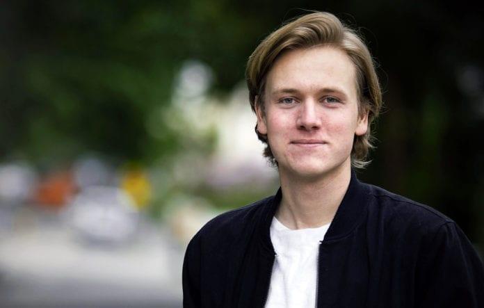 Sondre Hansmark, leder i Unge Venstre, synes det er veldig viktig at Norge anerkjenner en palestinsk stat. (Foto: Unge Venstre)