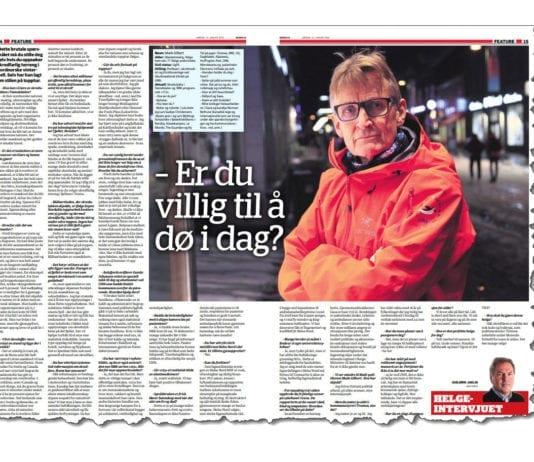 Faksmile av Nordlys 12. januar 2019.