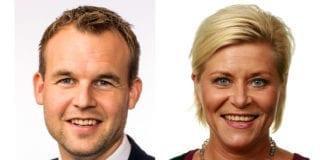 Med felles press fra KrFs forhandlingsleder Kjell Ingolf Ropstad og FrPs leder Siv Jensen kan norsk Israel-politikk ta mange skritt i riktig retning. (Foto: Stortinget)
