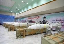 Iranske Sayyad-3-missiler på utstilling i juli 2017. (Illustrasjonsfoto: Iranian Defense Ministry)