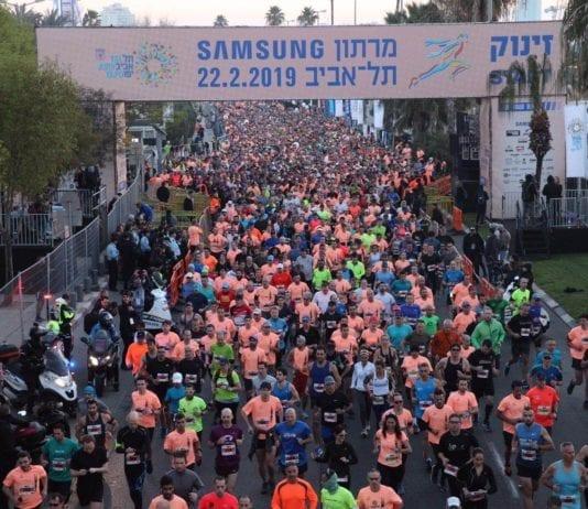 Rundt 40.000 deltok på Tel Aviv Samsung Marathon 2019. (Foto: Ronen Topelberg, Tel Aviv-Yafo Municipality)