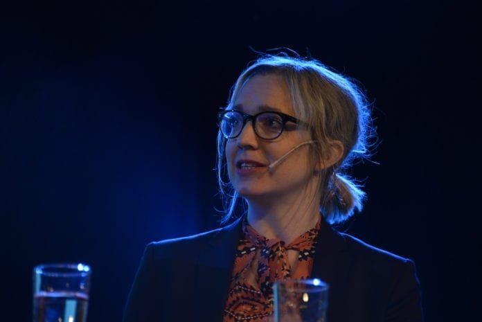 39 år gamle Sarah Sørheim er ansatt som ny nyhetsredaktør i Norsk Telegrambyrå. (Foto: Wikimedia Commons)