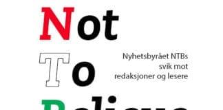Faksmile fra forsiden av MIFFs NTB-rapport.