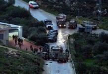 Åstedet for bilangrepet natt til mandag der to israelske soldater ble skadet. (Foto: Twitter/Kan)