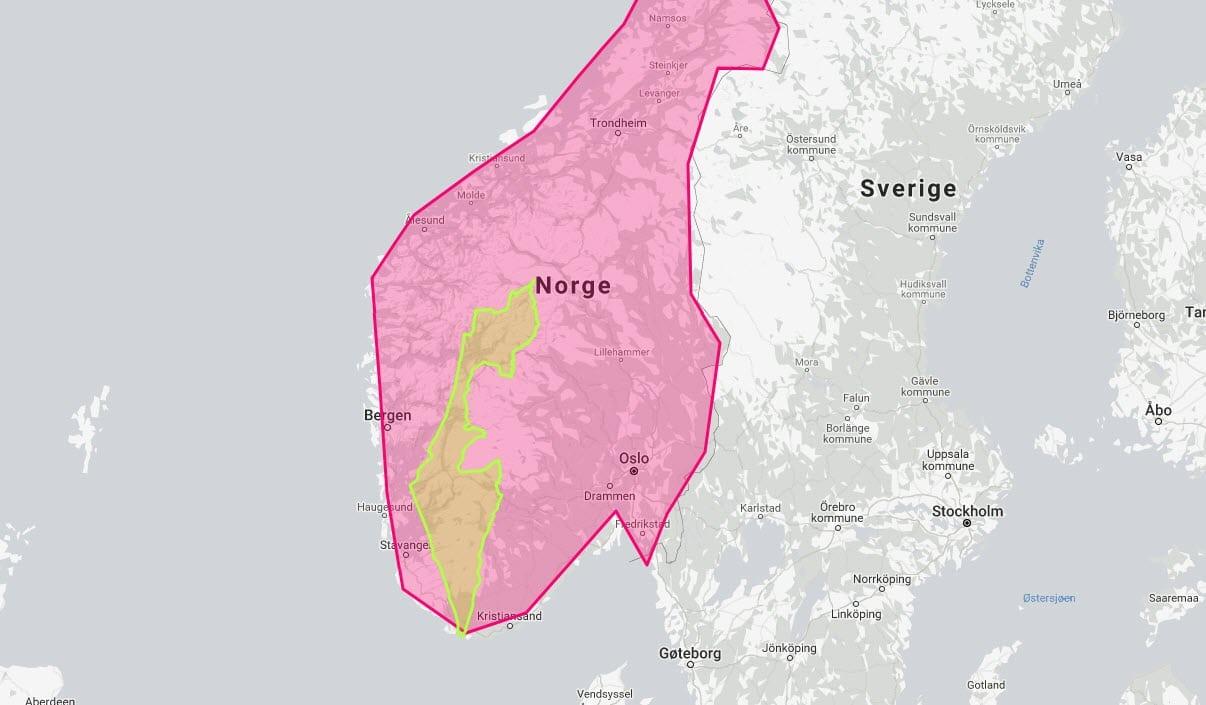 Karta Norge Drammen.Fem Kart Som Vil Gi Deg En Aha Opplevelse Miff
