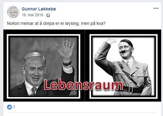 Skjermdump fra Gunnar Løkkebøs Facebook-vegg 13. mars 2019.