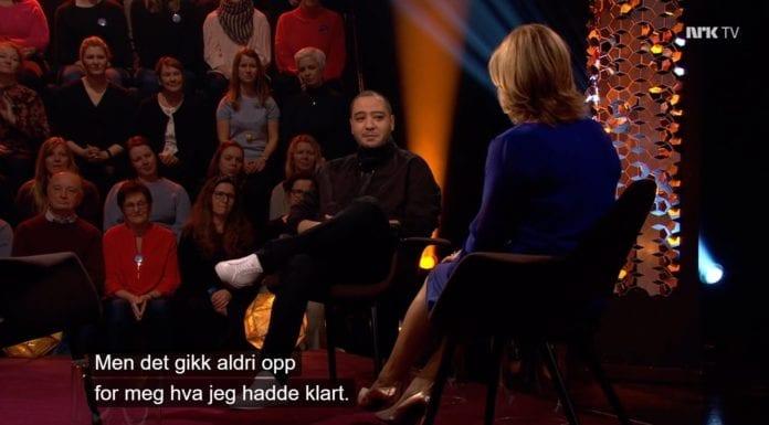 Skjermdump fra Lindmo på NRK 15. mars 2019.