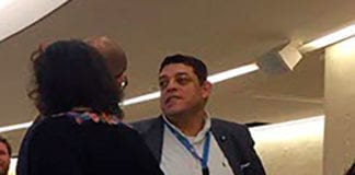 Loai Deeb fotografert i FNs menneskerettighetsråd 18. mars 2019. (Foto: Privat)