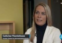 Cathrine Moe Thorleifsson, forsker ved Senter for Ekstremismeforskning ved Universitet i Oslo, på NRK Dagsrevyen 13. april 2019.