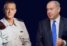 Tidligere IDF-sjef Benny Gantz og Benjamin Netanyahu kjemper om makten i Israel. (Foto: Wikimedia Commons)