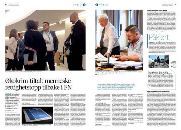 Faksmile av Stavanger Aftenblad 16. april 2019.
