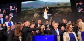Likud-politikere jubler etter valgseieren. (Foto: Amir Ohanas Facebook-side)