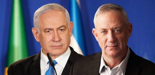 Benjamin Netanyahu og Benny Gantz. (Foto: Alan Santos/PR, flickr – Blue and White party, montasje MIFF)