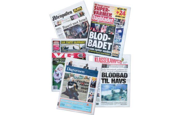 Norske avisforsider 1. juni 2010.