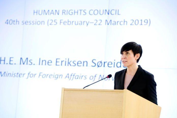 Utenriksminister Ine Marie Eriksen Søreide. (Foto: Violaine Martin, FN, flickr)