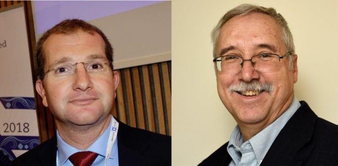 Shaun Sacks og Gerald Steinberg fra NGO Monitor
