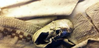 Babysko tatt fra et av de yngste ofrene i dødsleiren Auschwitz-Birkenau (Foto: @mfstern)