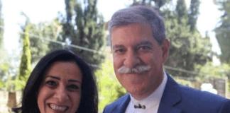 Ekteparet Rania Elias og Suhail Khoury er arrestert, mistenkt for finansiering av terrororganisasjoner. (Foto: @Mvoice13)