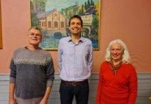 Interimstyret for MIFF i Midt- og Øst-Telemark. Fra venstre: Torkjell Fosli, Benjamin Karlsen og Aina Grønnestad. (Foto: Kjetil Ravn Hansen, MIFF).