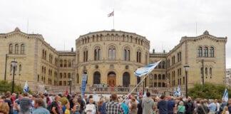 Stortinget MIFF demonstrasjon 2014