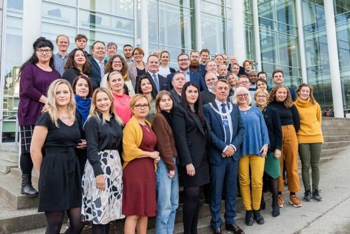 Kommunestyret i Tromsø 2019-2021. (Foto: Tromsø kommune)